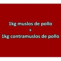 1kg Muslos de Pollo + 1kg Contras de Pollo