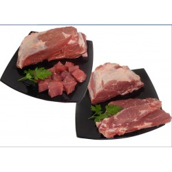 1kg carne para guisar + 1kg chuletas de aguja
