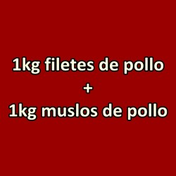 1kg Filetes de Pollo + 1kg Muslos de Pollo