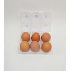 1/2 Docena Huevos Clase XL Morenos